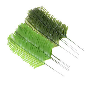 5X Lifelike Artificials Green Palm Branch Leaves Weddings Party Home Decor 38cm