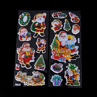 5 pcs Christmas Stickers for Kids Xmas Craft Gift Card-Making Home Decoration XS