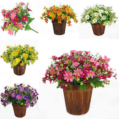 28 Heads Artificial Fake Silk Daisy Flower Bouquet Home Wedding Party Decor GG - Daisy Decorations