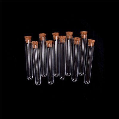 Plastic Test Tube With Cork Vial Sample Container Bottle 10pcslot