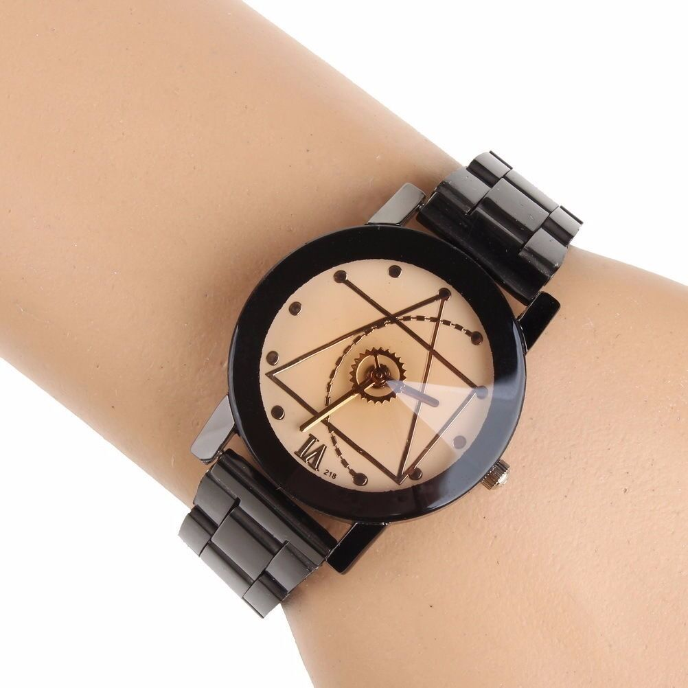 Fashion Luxury Men Women Compass Watch Stainless Steel Quartz Analog Wrist Watch