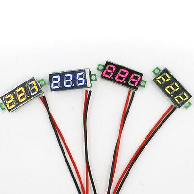 Mini Dc 2.4-30v Led Panel Voltage Meter 3-digital Display Voltmeter Motorcycle..