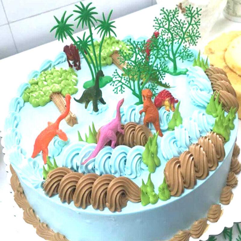 Cookware, Dining & Bar Baking Accs. & Cake Decorating 16pcs/Set DIY Cake Topper Jungle Dinosaur Ornaments Cake Baking Decor Kids To JO