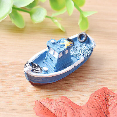 1pcs Yacht Ship Fishing Boat Miniature Fairy Garden Home Craft DIY AccessoLF for sale  Shipping to Canada