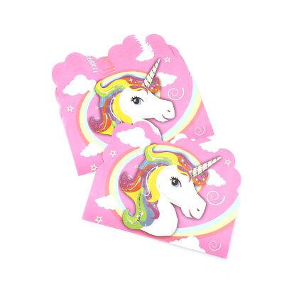 Unicorn Birthday Card - 10pcs unicorn invitation card unicorn cards birthday wedding party invitation$-$