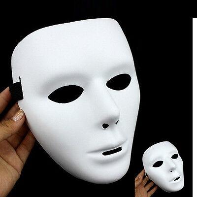 JabbaWockeeZ Mask White Full Face Dance Crew Plastic Halloween Costume Mask Prop - Halloween Costumes Jabbawockeez Mask