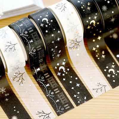 Christmas Set Gold Foil Printing Japanese Washi Paper Tape 15mm X 5m - Christmas Tape