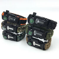 Paracord Survival Bracelet Compass Flint Fire Starter Whistle Camping Gear Hguk - unbranded/generic - ebay.co.uk
