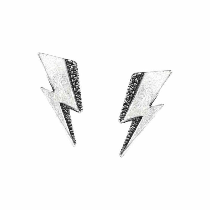 Alchemy Rocks David Bowie Flash Ear Studs Earrings - Gothic Logo England