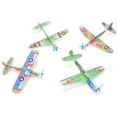 12PCS Foam Glider Prop Flying Gliders Plane Aeroplane Kids Children DIY Toys $s$ - Flying Gliders