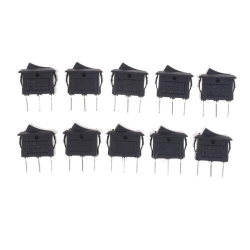 10PCS KCD11 3A//250V 3 Pin SPDT ON-OFF-ON 3 Position Snap Rocker Switch TEUS