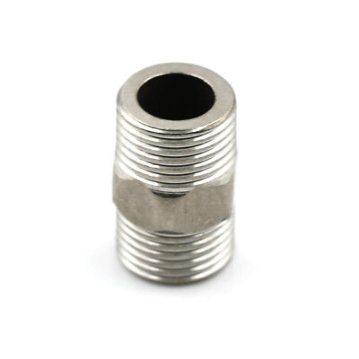 "1/2"" Male x 1/2"" Male Hex Nipple SS 304 Threaded Pipe Fitting NPT TE"