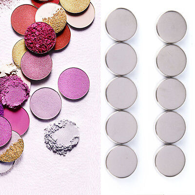 10 30Pcs Empty Round 15Mm Tin Pans For Powder Eyeshadow Responsive To Magnets Qw