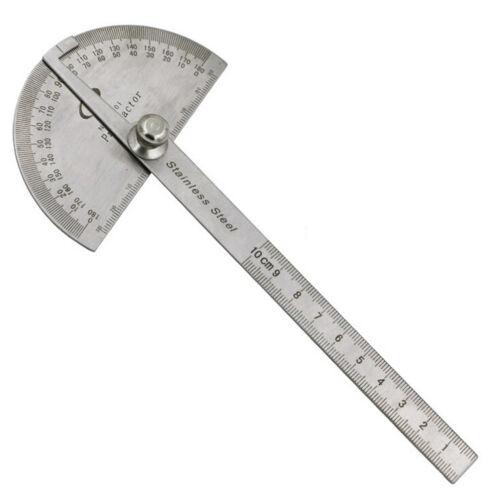 BTU - Stainless Steel 0-180 Protractor Angle Finder Arm Measuring RuleYYLU