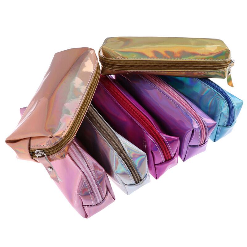 Iridescent laser pencil case pen bags storage stationery gift pencil  CJ