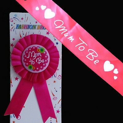 Baby Shower Party Favor Ribbon Mum To Be Satin Sash Banner Or Award Ribbon FO (Babyshower Party Favors)
