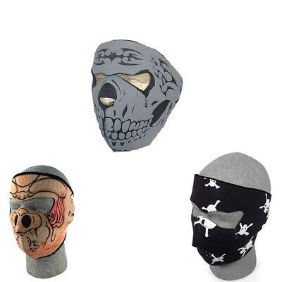 Black Pig Mask (Lot of 3 Neoprene Full Face Mask Grey Skull Pig Hog Skull Crossbones Black)