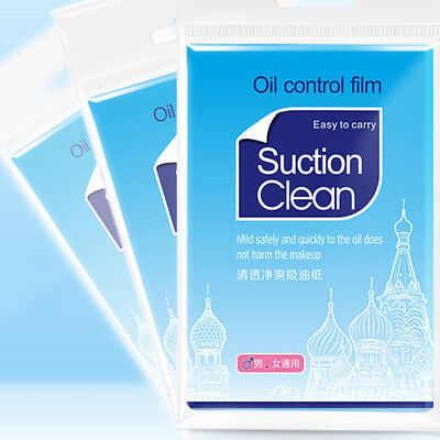 100x Facial Oil Control Film Wipes Sheet Absorbing Face Blotting Paper Grease RS