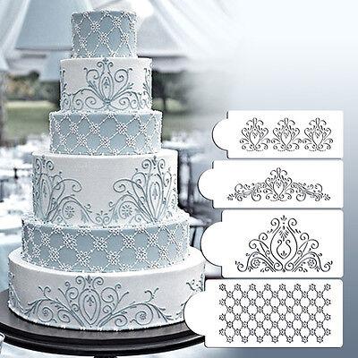 Princess Lace Cake Stencil Set Wedding Cake Cookie Border Stencils Decoration BS