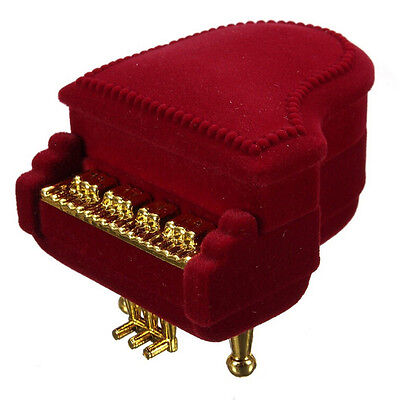 New Piano Ring Box Earring Pendant Jewelry Treasure Gift Case Wedding XR - $10.21