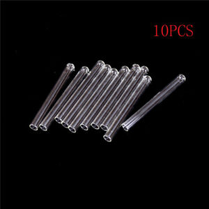 10Pcs 100 mm Pyrex Glass Blowing Tubes 4 Inch Long Thick Wall Test TubeHh