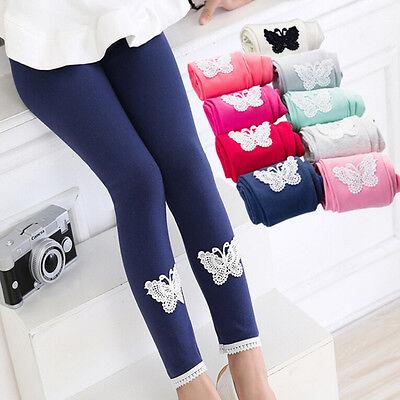 Hot Lovely Baby Kids Girls Leggings Pants Butterfly Trousers For 4-12 Years TO (Hot Girls Leggings)