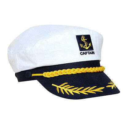 Unisex Skipper Ship Sailor Navy Yacht Military Captain Nautical Hat Cap Costu IG](Sailors Hat)