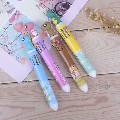 1pc 10 Colors Dinosaur Pens Cartoon MultiColor  Ball PenSchool Supplies