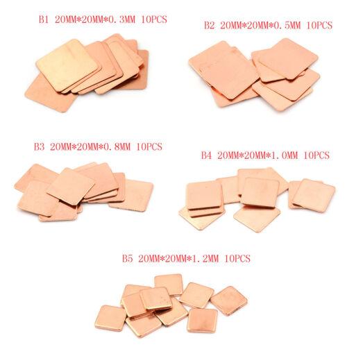 10PCS Laptop Copper Sheet Plate Strip Shim Thermal Pad Heatsink Sheet EO