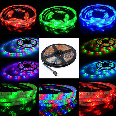 10M 32FT 3528 Waterproof SMD RGB 600LEDs LED Light Strip 24Key IR Remote (Lighted Controller)