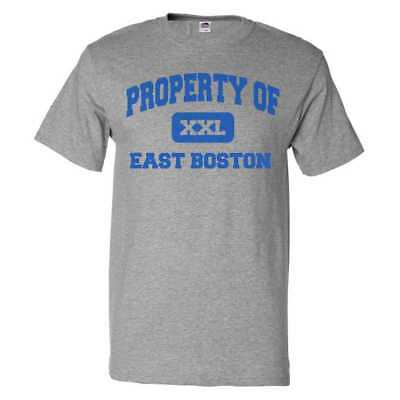 Property Of East Boston T Shirt Funny Tee