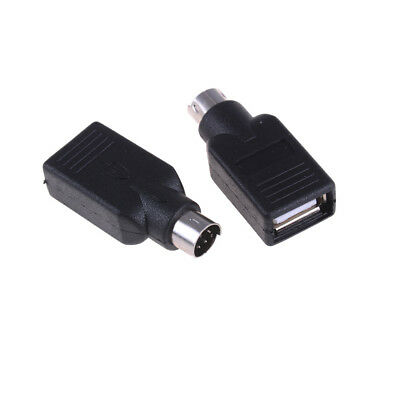 2pcs USB hembra a macho adaptador convertidor para PS2 Teclado Mouse QN