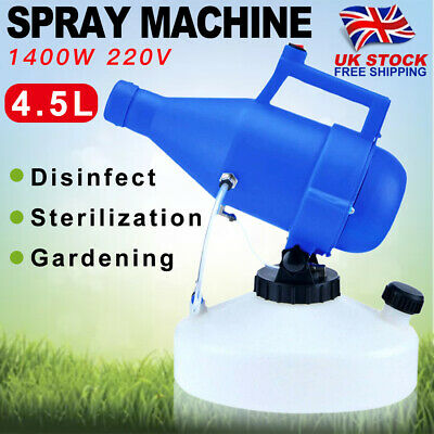 4.5L Electric Backpack ULV Sprayer Fogger Cold Fogging Machine Disinfection 220V