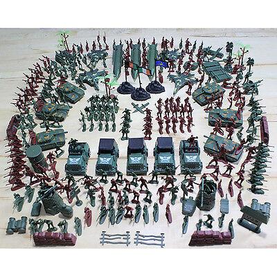 307X Sett Soldier Kit Grenade Tank Aircraft Rocket Army Men Sand Scene Model Qw