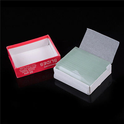 Professional 50pcs Blank Microscope Slides Accessories Cover Glass Lab  Bh