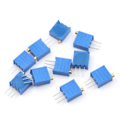 10pcs Blue 103 10k Ohm 3296w Trim Pot Trimmer Potentiometer Se