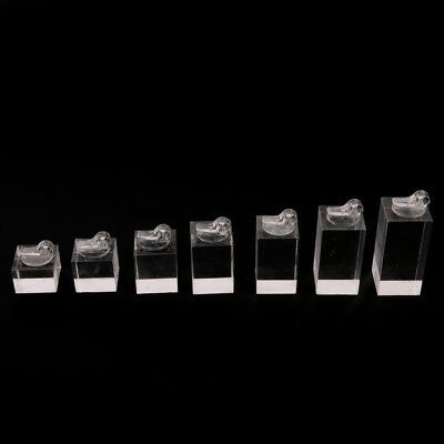 Set Of 7 Clip Ring Acrylic Display Stand Jewelry Holder Riseryjje
