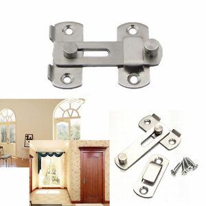 Stainless Steel Home Safety Gate Door Bolt Latch Slide Lock Hardware+Screw US.
