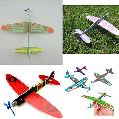 12X Flying Gliders Planes Aeroplane Party Bag Fillers Children Kid Toy Model FO - Flying Gliders