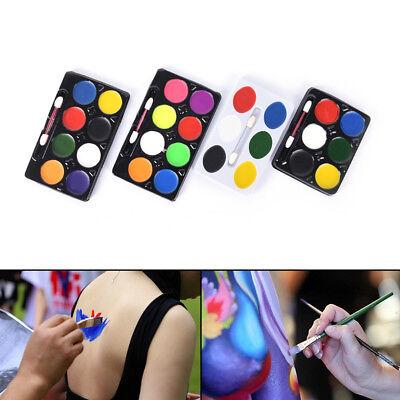 5/6/8 Color Body Face Paint Kit Art Makeup Paint Pigment Fancy Dress Up PartyFij