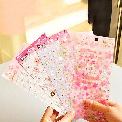 Cherry Blossom Stickers Sakura Flower Floral Craft Scrapbook Card DIY TFHN