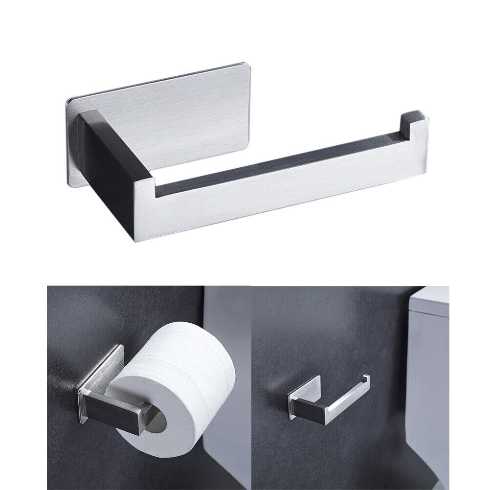 Porta/Rotolo Carta/Igienica con 2 Ganci nero Portarotoli Carta Adesivo da Parete per Bagno e Toilette,304 Acciaio Inox Porta/Rotolo/Carta/Igienica