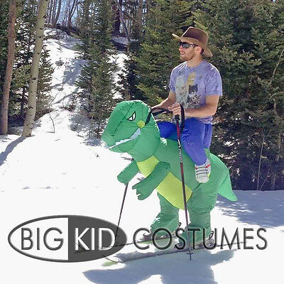Halloween Inflatable Adult Green Dinosaur Party Costume Dino Rider Funny% (Adult Dino Costume)