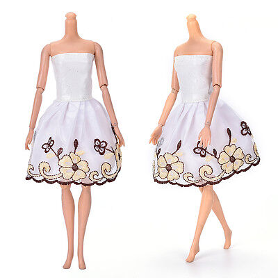 "Fashion Beautiful Handmade Party Clothes Dress for 9"" Doll Mini 102 W4"
