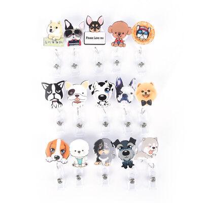 (Dog Retractable Badge Reel Student Nurse Exihibiton ID Name Card Badge Holder PL)