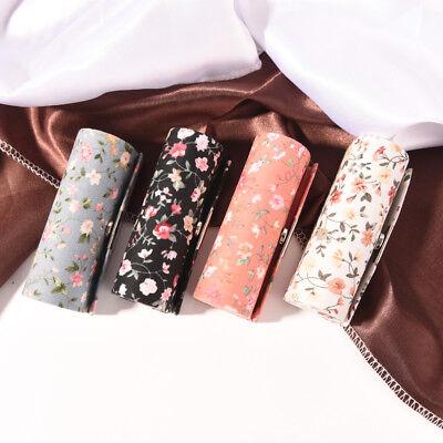 Floral Tuch Lippenstift Case Halter mit Spiegel innen&Snap-On Verschluss   UE ()
