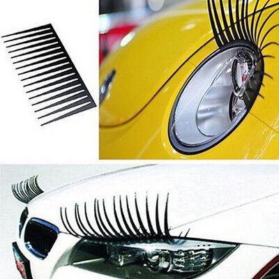 1pair Eyelash Auto Car Eye Lashes Automotive Eyelashes Decoration Sticker Decal