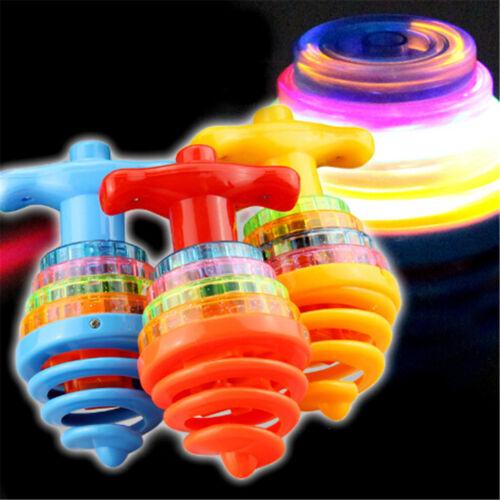 Colourful Light/&Music Spring Gyro Peg-Top Spinning Top Kids Children Toy Gift FJ