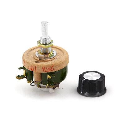 25W 100 OHM High Power Wirewound Potentiometer Rheostat Variable Resistor  BH