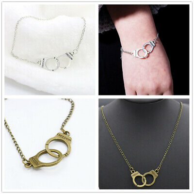 Stylish Cute Creative Hand cuff  Best Friend Funky Pendant Necklace